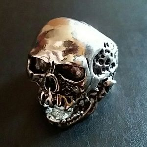 Men's Bikers Skull Ring